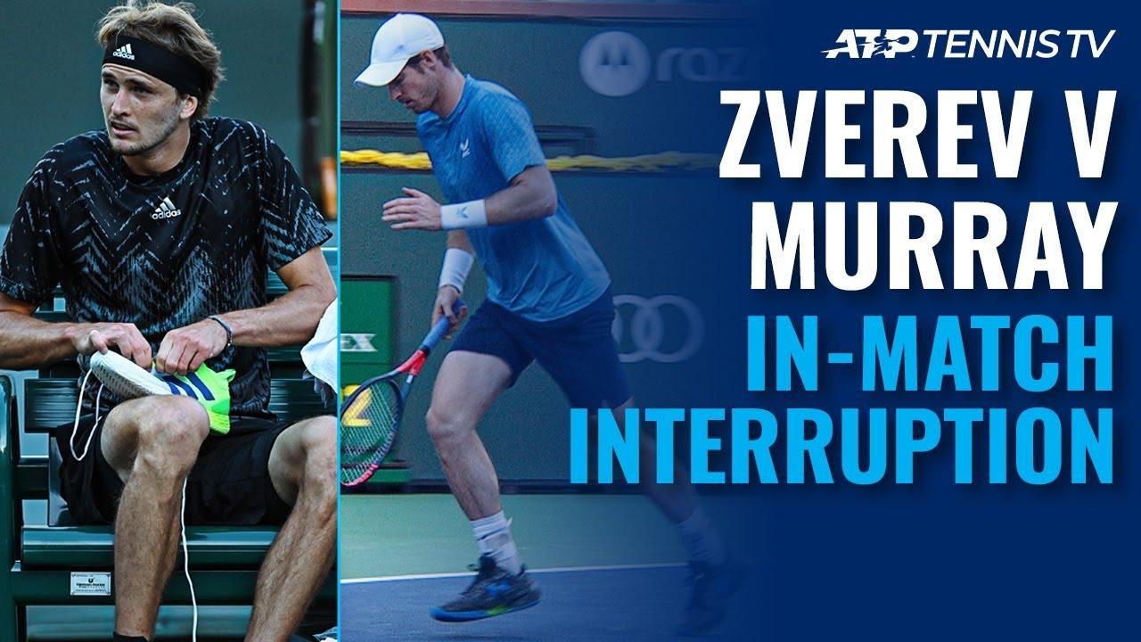 Shoelaces & Bathroom Breaks: Zverev vs Murray Mid-Match Antics! | Indian Wells 2021