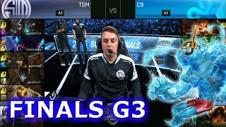 TSM vs Cloud 9 | Game 3 Grand Finals S6 NA LCS Summer 2016 PlayOffs | TSM vs C9 G3 1080p