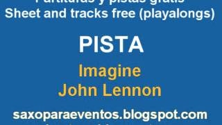 Partitura y pista de Imagine - Sheet and playalong of Imagine