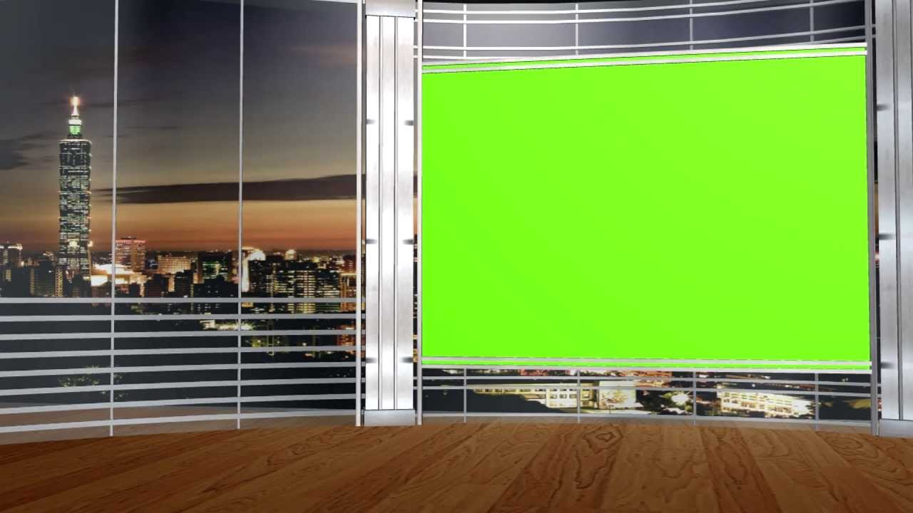 FREE HD Virtual Studio set with GREEN SCREEN TV 5