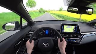 2017 Toyota C-HR 1.2 Turbo 85 kW / 116 HP, 4K POV: Static, drive, acceleration 0-100 km/h