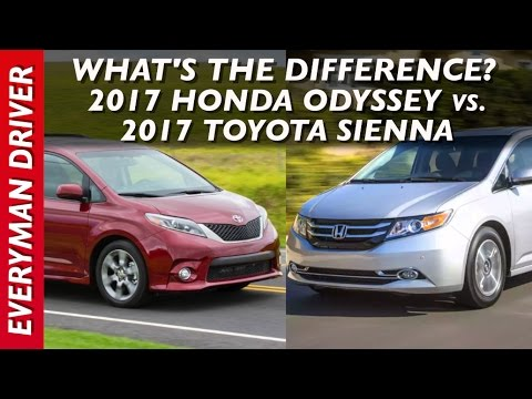 Whatu0027s The Difference: 2017 Honda Odyssey Vs 2017 Toyota Sienna On Everyman  Driver