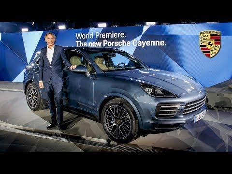 2018 Porsche Cayenne Revealed - Full Press Conference @ Zuffenhausen