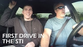 Dads First Drive 500 hp Subaru Sti