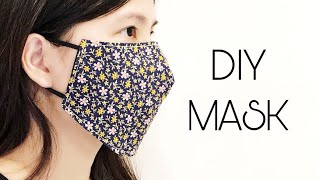 DIY BREATHABLE FABRIC FACE MASK EASY PATTERN How to make a simple face mask for adults new design