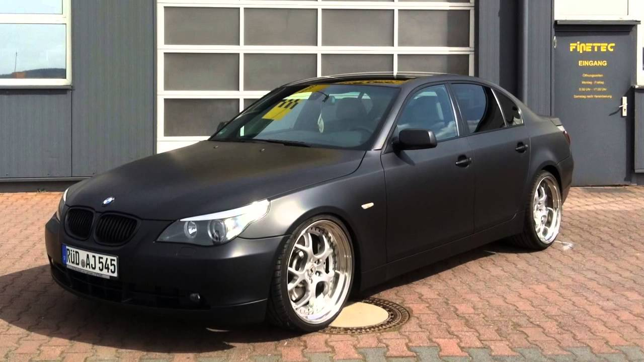 bmw 545 mit plastidip schwarz matt im diptec verfahren veredelt youtube. Black Bedroom Furniture Sets. Home Design Ideas