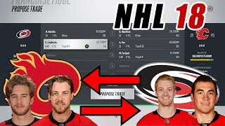 Trade Breakers: NHL 18 Trade Simulation. HANIFIN FOR HAMILTON!