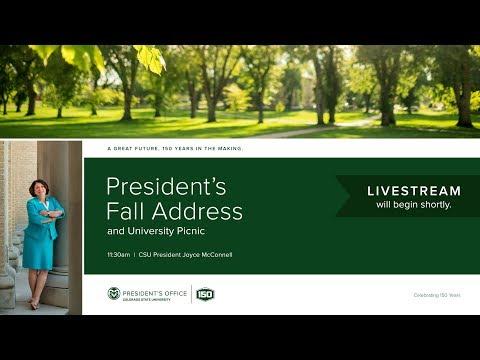 President's Fall Address - Colorado State University