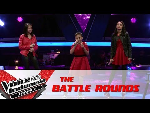 Anneth & Raulla & Vanessa 'If I Ain't Got You'| Battle Rounds | The Voice Kids Indonesia S2 GTV2017