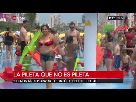 Buenos Aires Playa: la pileta que no es pileta