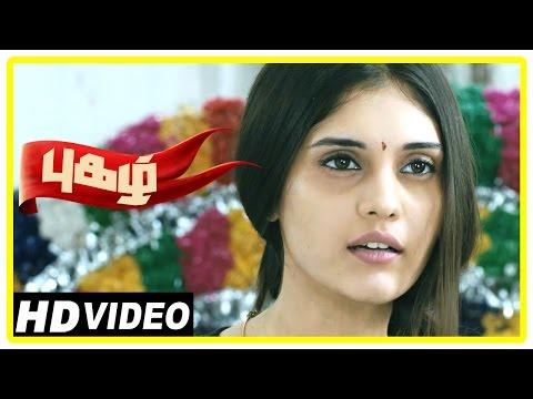 Pugazh Tamil Movie | Scenes | Jai fights with Villain | Surabhi warns Jai | Karunas | RJ Balaji