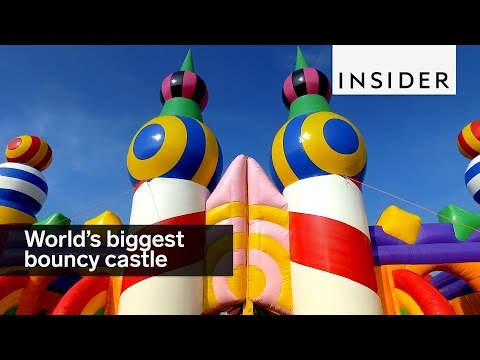 Thumbnail: This is the world's biggest bouncy castle