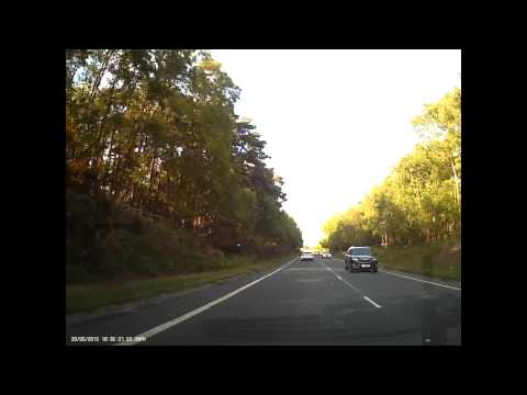Tailgating white BMW wanker dangerously overtakes