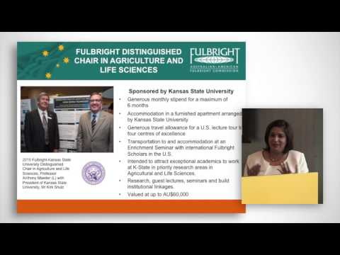 Fulbright Scholarships - Senior, Professional & Distinguished Chair Information Session
