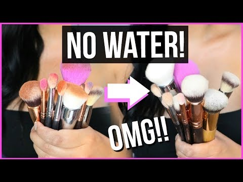 THE BEST WAY TO CLEAN YOUR MAKEUP BRUSHES IN SECONDS!! FAST DRY, NO WATER NEEDED! | SCCASTANEDA thumbnail