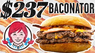 $237 Wendy's Baconator Taste Test | FANCY FAST FOOD