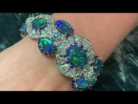 Black Opals, Diamonds And Paraiba Tourmalines From David Morris