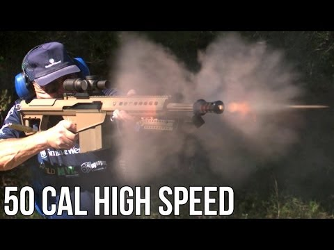 NEW BARRETT .50 CAL WORLD RECORD- 6 SHOTS in UNDER 1 SECOND on HIGH SPEED! Jerry Miculek HD