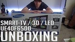 UNBOXING - 3D Smart-TV - Samsung UE40F6500