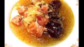Újévi Káposzta, Novoročná Kapustnica, New Year's Sauerkraut Soup