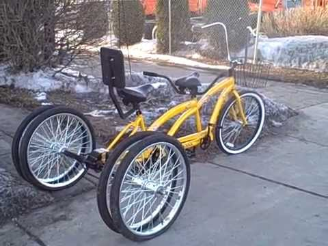 Five Wheel Tandem Bicycle Built For Two