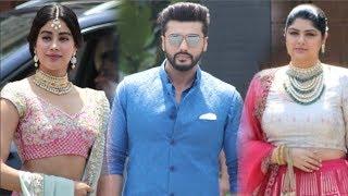Arjun Kapoor With Sister Anshula & Jhanvi Kapoor At Sonam Kapoor's WEDDING Ceremony- Video