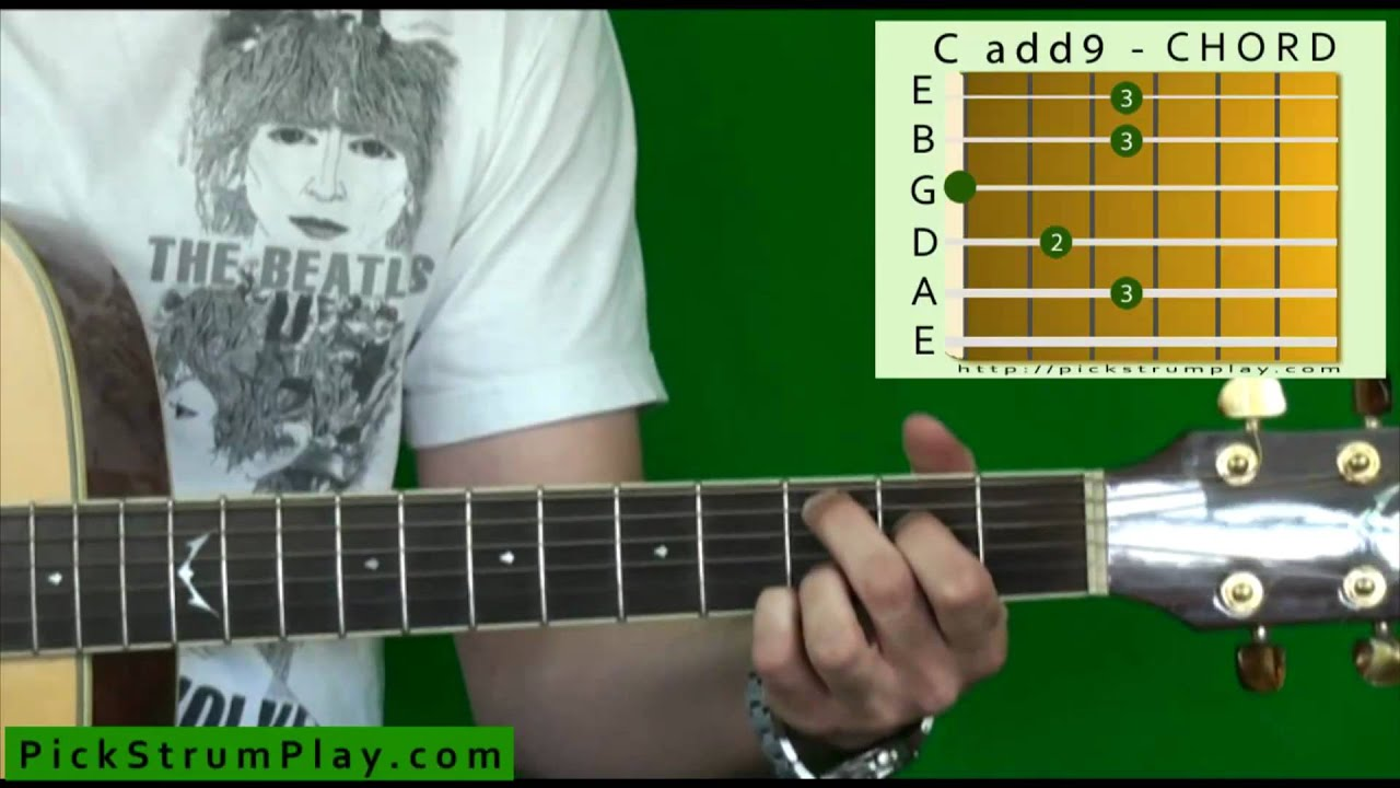 How To Play A Cadd9 Chord On Guitar Youtube