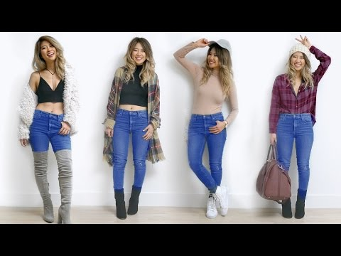 How to Style Skinny Jeans! 7 Outfit Ideas!. http://bit.ly/2zwnQ1x