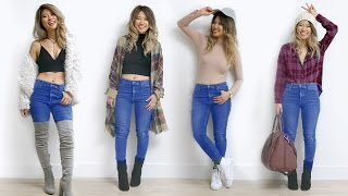 How to Style Skinny Jeans! 7 Outfit Ideas!