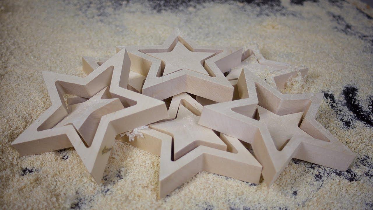 Weihnachtsstern Holzstern Cnc Gefräst In Ahorn Holz Rasch Designcom Werbung