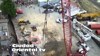 Se desploma estructura de metal puente del Metro de Santo Domingo