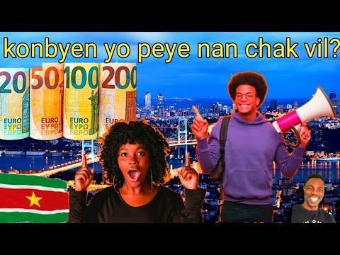 Flash sou vól #Suriname yo ak tout detay sou salaire chak vil nan peyi Turquie