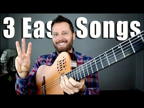 3 EASY Classical Guitar Songs! - With TAB!