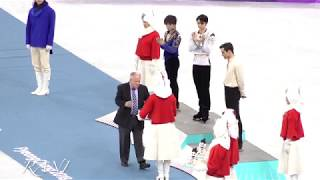 180217 Pyeongchang 2018 Figure Skating Men Single Awards Ceremony 4K