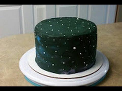 Easy Galaxy Cake Cake Decorating Youtube
