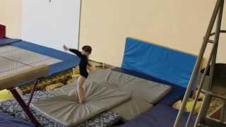 Моя гимнастика. Выступление на бревне