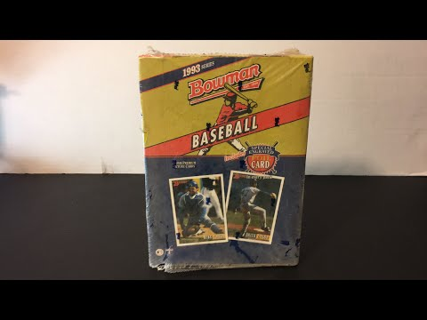 Searching For Derek Jeter Rookie Card In A Box Of 1993 Bowman