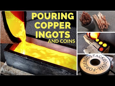 POURING COPPER INGOTS & COINS - Trash To Treasure - NEW DEVIL-FORGE FURNACE
