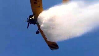 Samoloty ga�nicze nad Rezerwatem Torfowisko Karaska