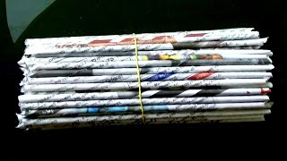 2 DIY Newspaper Craft / Best out of waste craft ideas