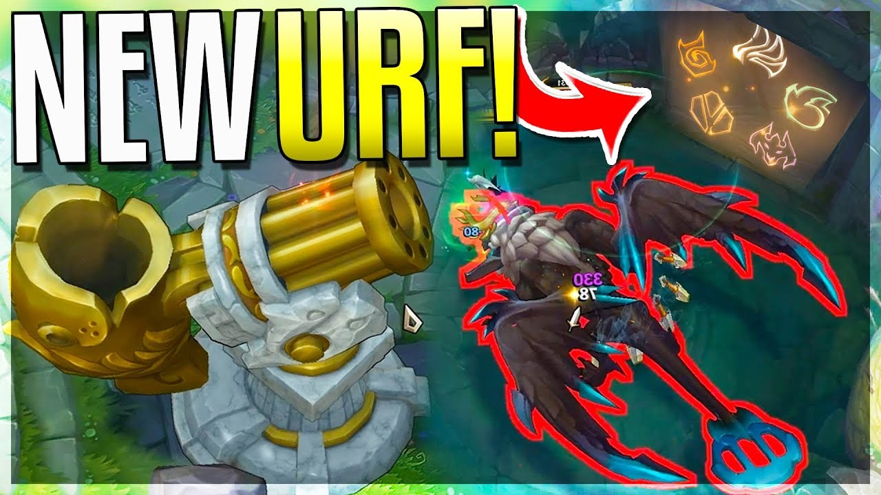 NEW URF MODE!!! NEW URF DRAGON + CANNON THROWS YOU ANYWHERE!! - Urf 2019  Gameplay -
