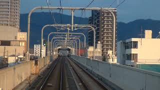 先頭展望 近鉄奈良線 大阪難波ー近鉄奈良 快速急行