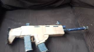 My cardboard Fortnite Scar