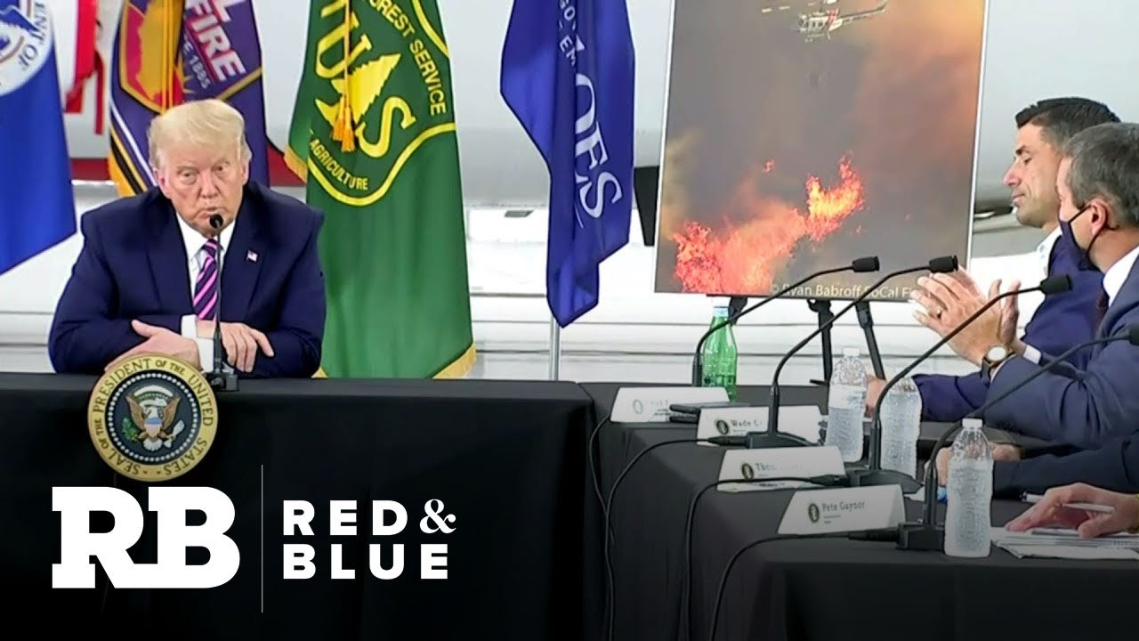 Trump disputes climate change at briefing on California wildfires