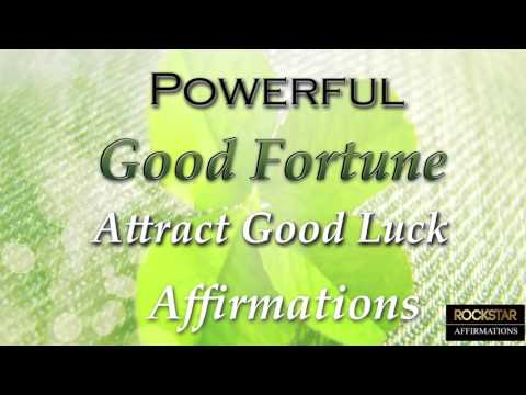 I AM LUCKY Powerful Super-Charged Good Fortune Affirmations - Attract Luck to you
