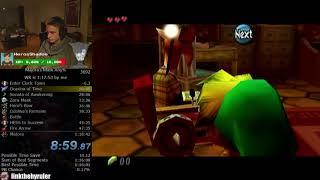 The Legend of Zelda: Majora's Mask Any% Speedrun (New Route 1:17:57)