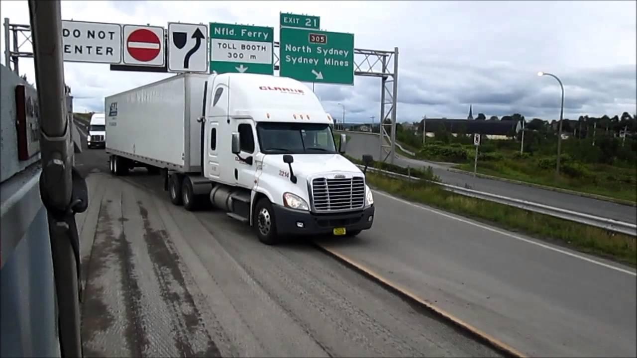 Big Rig Traffic at Ferry Terminal - YouTube