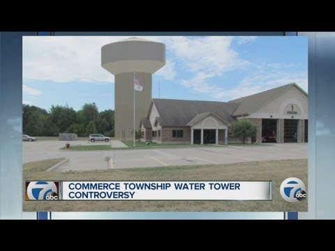 Commerce Township water tower controversy