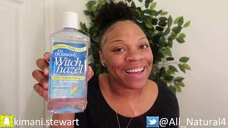 T.N. DICKINSON'S WITCH HAZEL ALL NATURAL TONER ON FACE REVIEW AND BENEFITS!!!