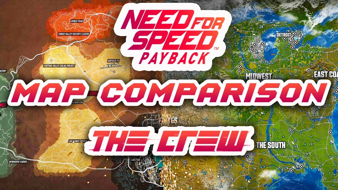 NEED FOR SPEED PAYBACK MAP VS THE CREW WHICH ONE WINS